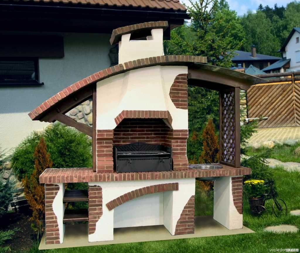 Фото садовых комбинированных барбекю электрокамин с панорамным стеклом купить